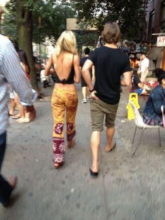 pants indie backless black singlet