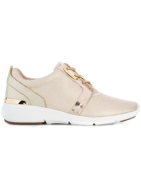 MICHAEL Michael Kors mesh women sneakers lace leather grey metallic shoes