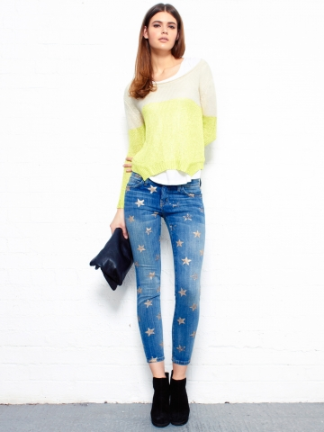 Star Print Stiletto Skinny Jeans by Current Elliott - Glassworks Studios