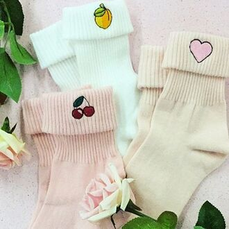 socks yeah bunny peach cute