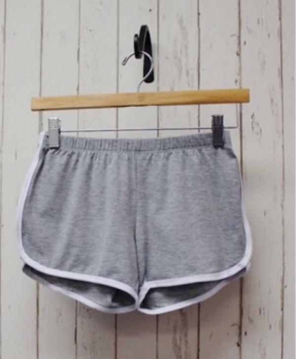 VENUS Women's GREY w/WHITE TRIM Loose GYM ATHLETIC Shorts ELASTIC ...