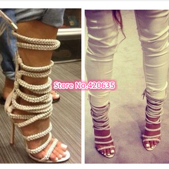 shoes heels lace up rope rope heel nude