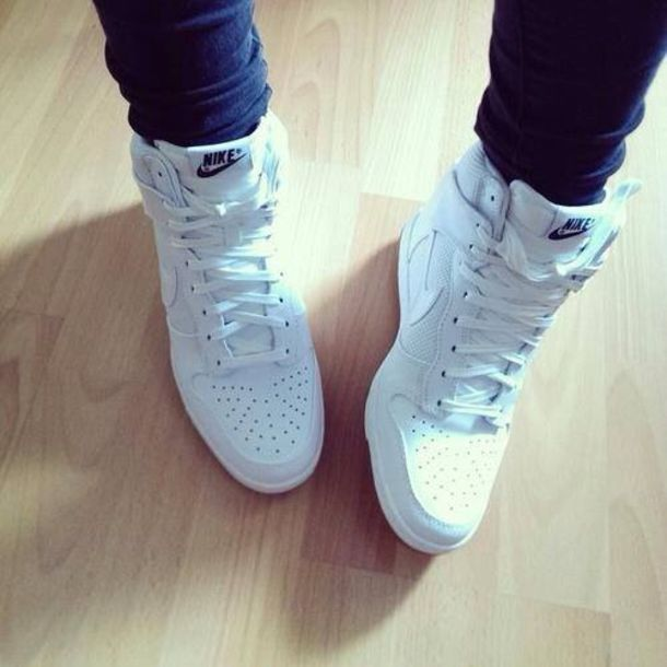 shoes nike dunk sky nike white