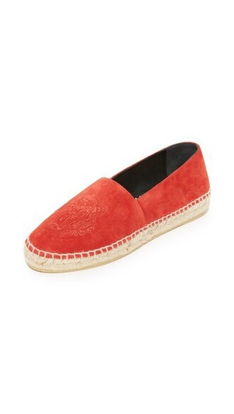 tiger espadrilles suede red shoes