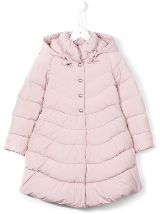 coat girl purple pink