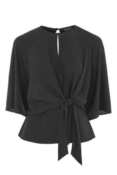 Topshop blouse black top