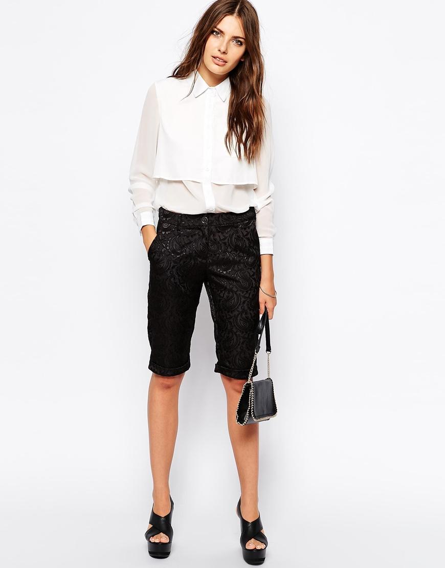 Lavish alice baroque jacquard bermuda shorts at asos.com