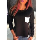zip,black and white,pockets,neoprene,black sweater,top,sweater,black,white,fall outfits,style,fashion,casual,long sleeves,warm,cozy,stylish,fashionista,clothes,winter outfits,tomboy