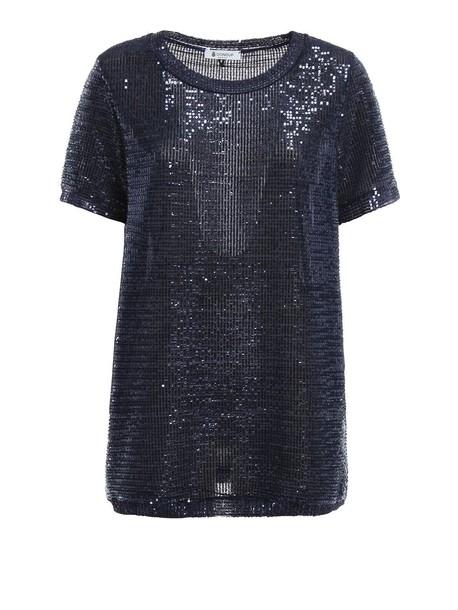 DONDUP t-shirt shirt t-shirt blue top