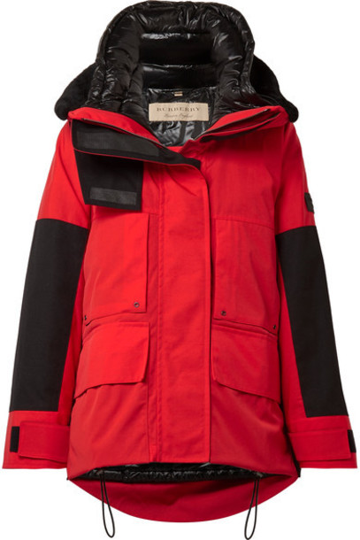 Burberry coat shell red