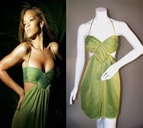 Rihanna Green SOS Dress