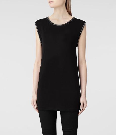 Allsaints ita tshirt in black