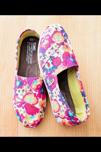 shoes toms tropical print tropisk tropical