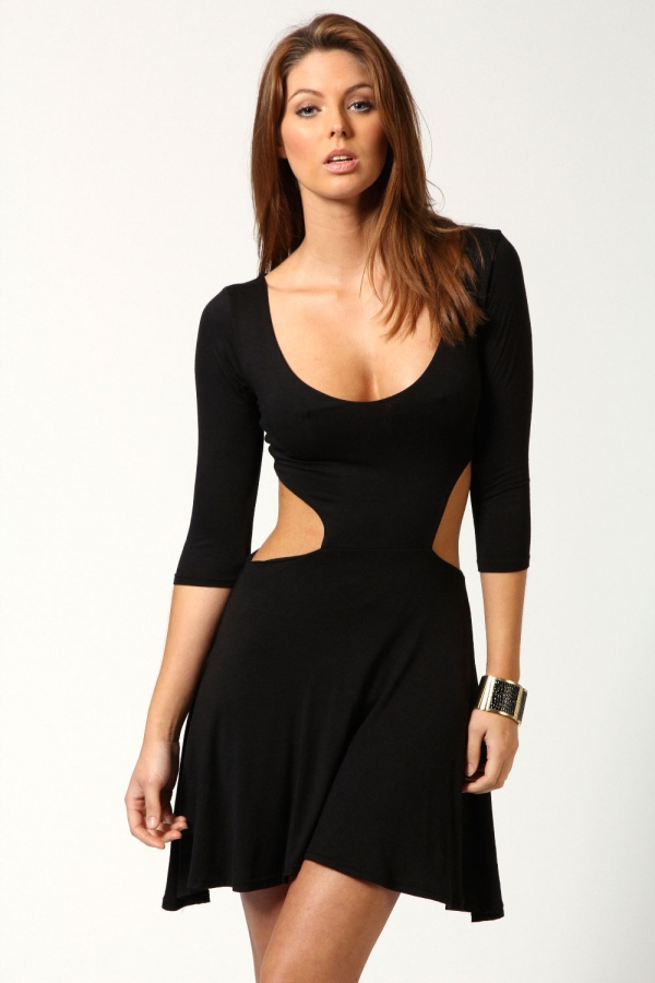 Hatty cut out sides skater dress $15.00