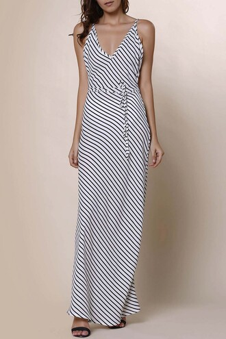 dress zaful streetwear summer stripes maxi dress