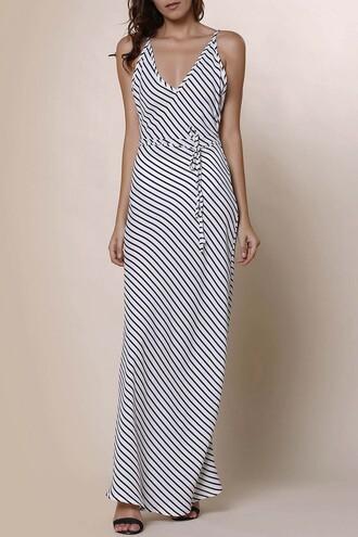 dress zaful streetwear summer stripes maxi dress striped dress summer outfits girl