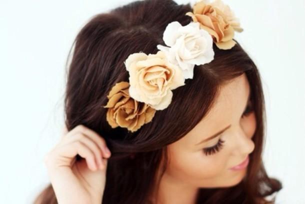 hat roses head