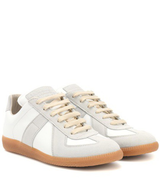 MAISON MARGIELA suede sneakers sneakers leather suede white shoes