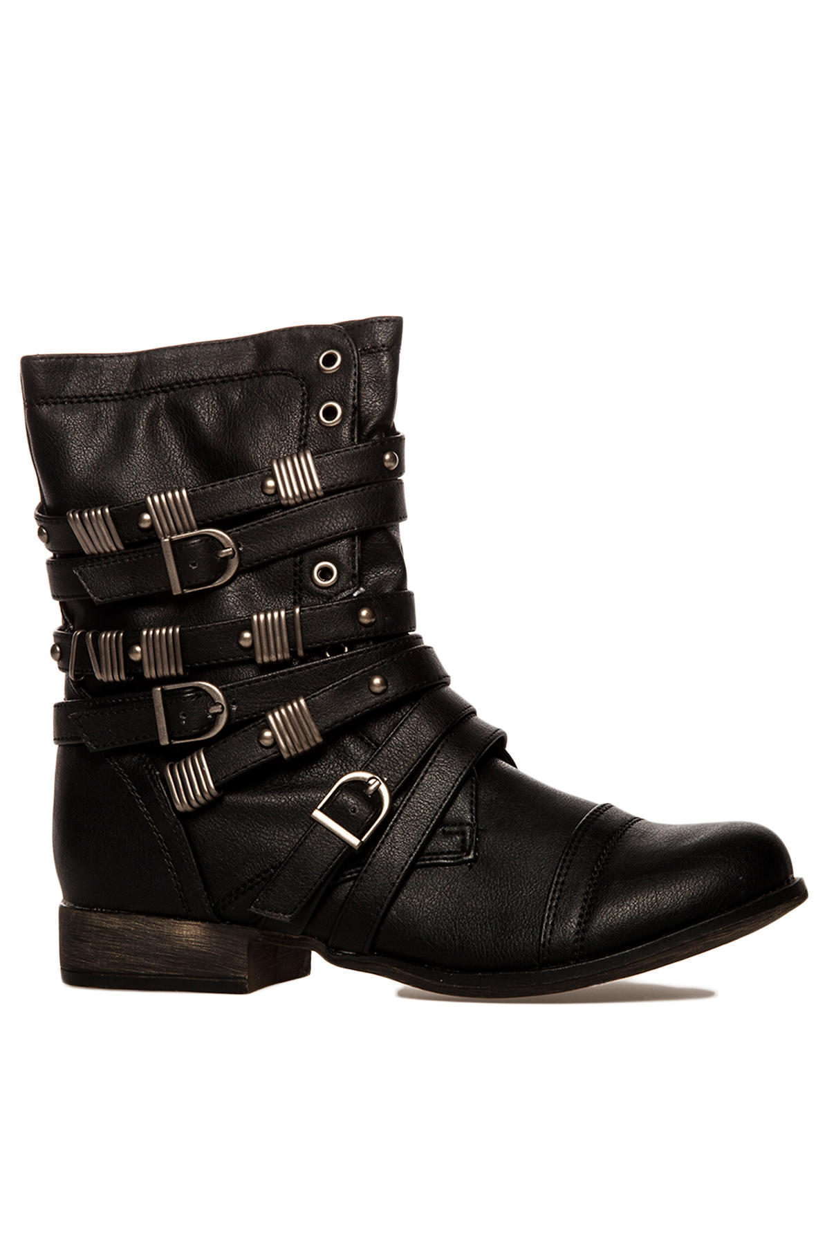 Sole La Vie The Georgia Buckle Boot in Black