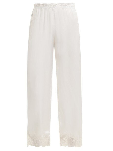 Icons lace silk white pants