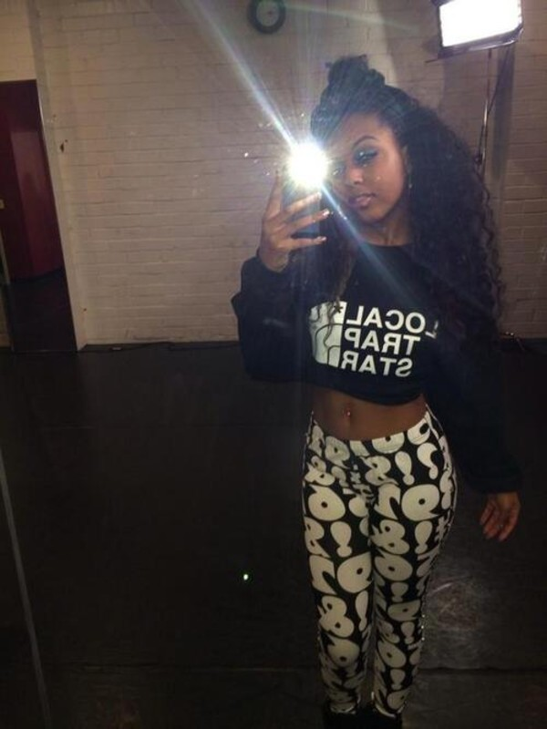pants bahja the omg girlz local trap star omg girlz sweatshirt leggings sweatpants number shirt beautiful