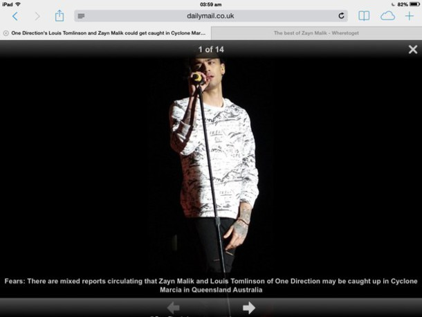 shirt white zayn malik sweatshirt  withh mountain artwork and words freak out and here is hope writtenn on