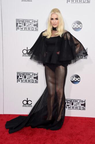dress gwen stefani amas 2015 black dress shoes sheer