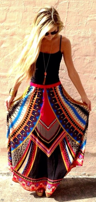 skirt red dress red red skirt maxi dress maxi skirt maxi boho dress boho chic boho boho hippie dress fashion boho style gypsy boho gypsy hippie blue dress blue skirt aztec aztec skirts black skirt boho maxi skirt