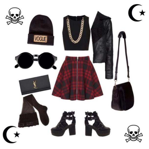 shoes black chelsea chelsea boots black boots chelsea skirt skater skirt tile skirt jacket bag