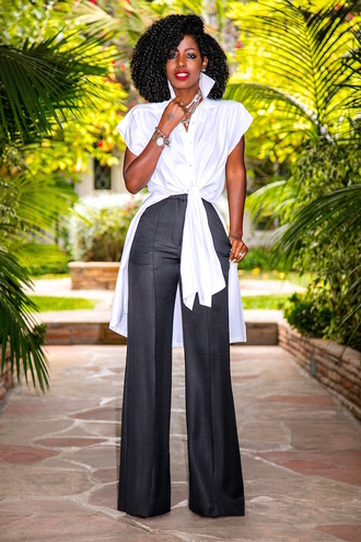 blogger shirt pants jewels shoes