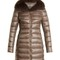 Fox-fur trim quilted down coat