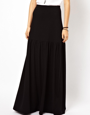 ASOS | ASOS Maxi Skirt With Dropped Waist at ASOS