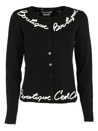 cardigan embroidered black sweater