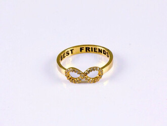 jewels ring infinty best friend friends bestie r gold rose gold sparkle perfect gift ideas fun cool loyal adorable stylish style best friends infinity ring friendship gifts rose gold ring infinity ring