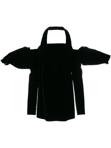 Saint Laurent dress mini dress mini women black silk