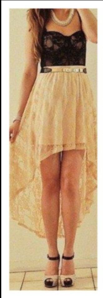 dress beige dress little black dress front short back long