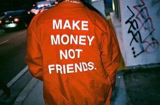 coat make money orange jacket t-shirt