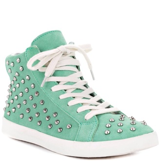 shoes studded shoes mint green shoes