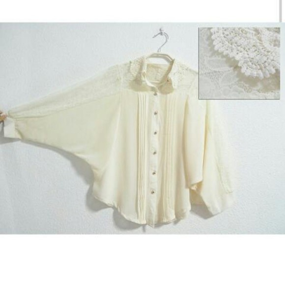 knitwear cream blouse chiffon peter pan collar dressy shoes sleeves