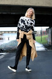 the fashion eaters,blogger,vans,jumper,black and white,coat,shoes,sweater,pants