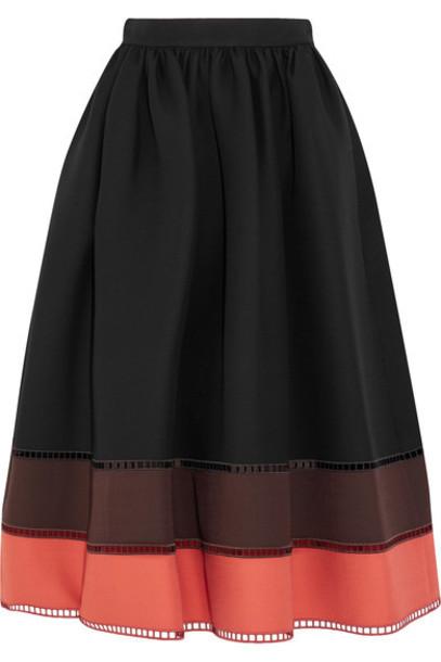 Fendi skirt midi skirt midi black silk wool