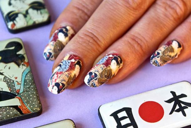 Nail Accessories Japan Geisha Nails Nail Art Decal Nail Wraps