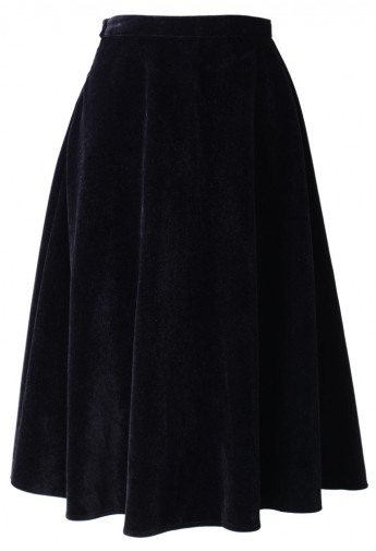 blend Midi Skirt in Black - Retro, Indie and Unique Fashion