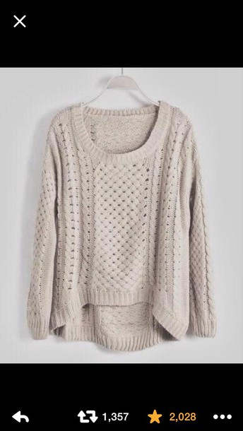 sweater knitted sweater long sleeves