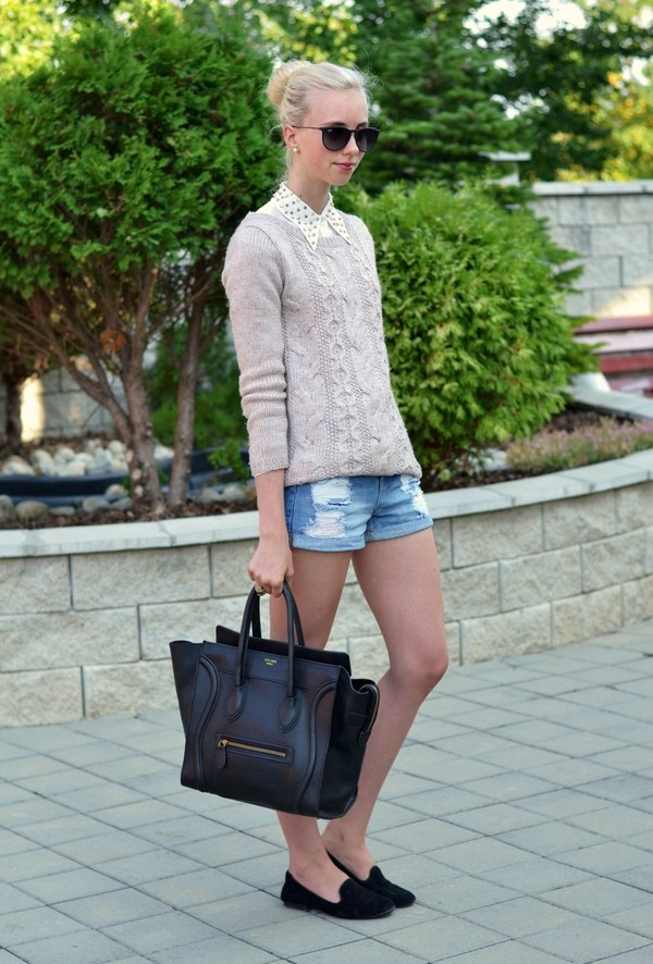 vogue haus blouse sweater shorts shoes bag jewels