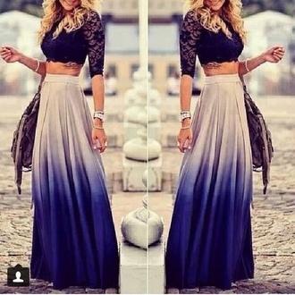 skirt light blue blue skirt maxi skirt dark blue skirt light blue skirt