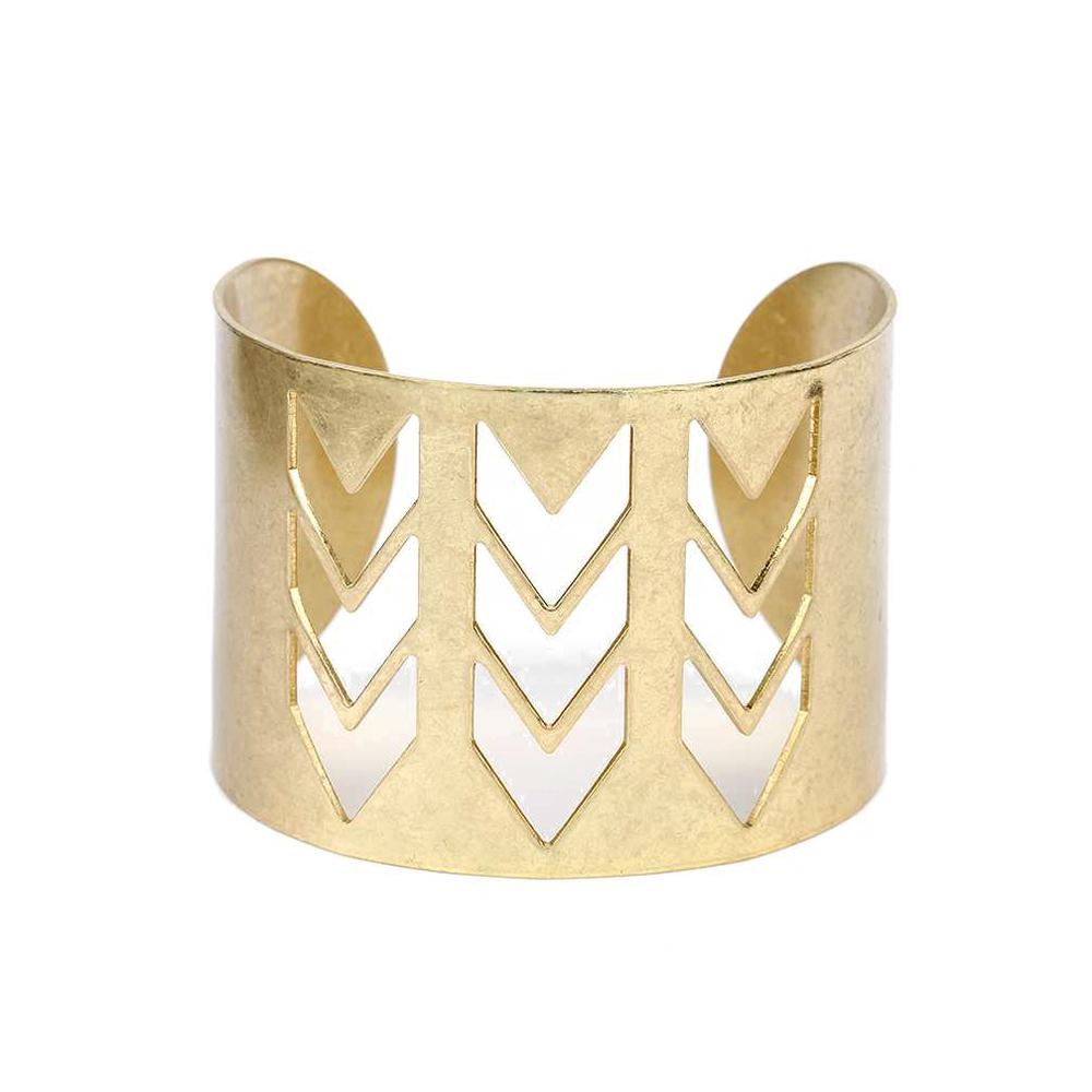 Boho Cutout Arrow Cuff Bracelet