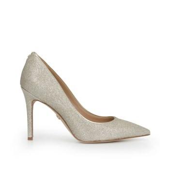 Sam Edelman Hazel Pointed Toe Heel Light Gold Mesh