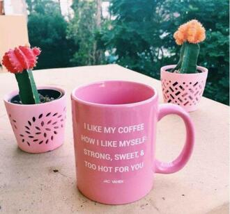 home accessory pink cup mug