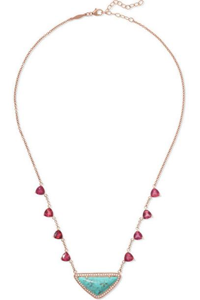Jacquie Aiche - 14-karat Rose Gold Multi-stone Necklace